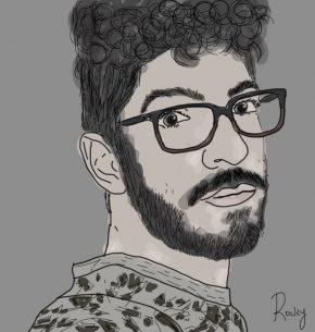 My Black & White Self Portrait